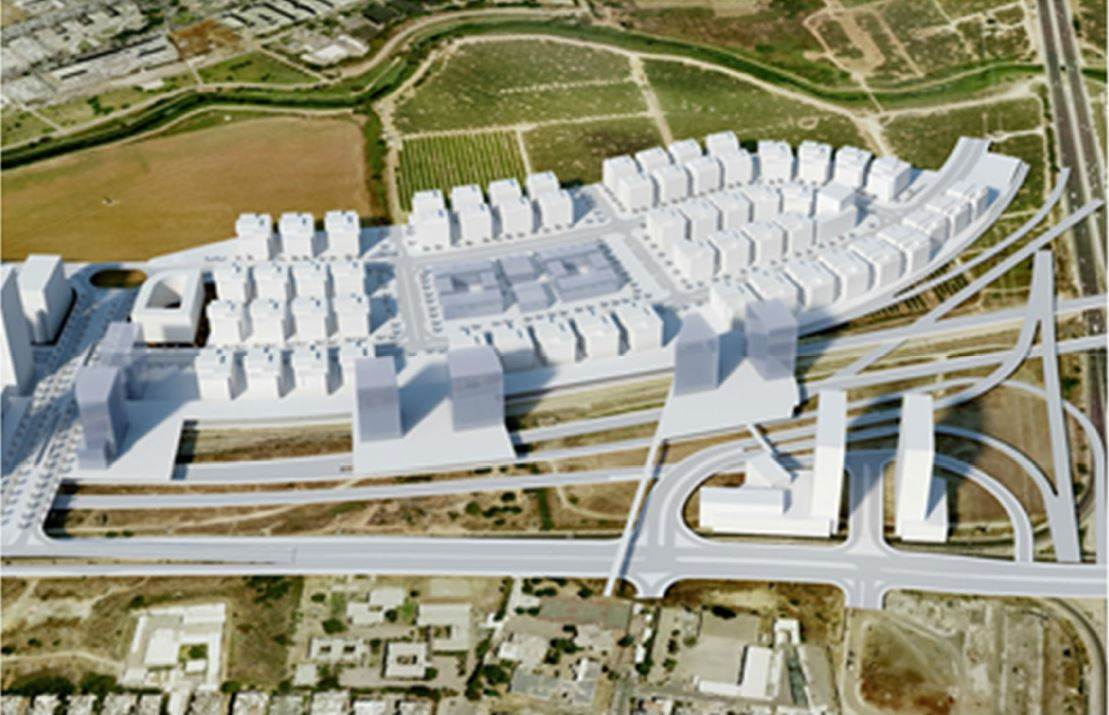 תוכנית בנייה בעיר הצפופה בישראל