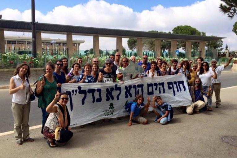 פעילי סביבה נגד בנייה ללא פתרונות ביוב