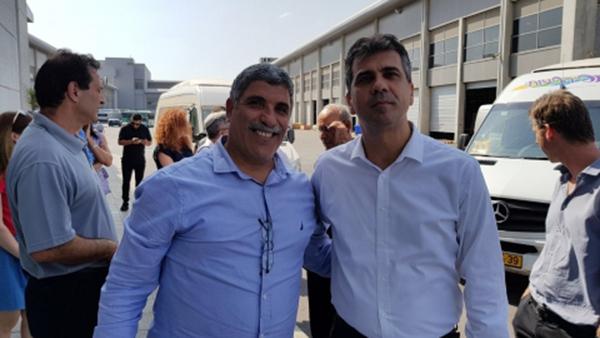 שר הכלכלה אלי כהן וראש העיריה אליהו זוהר